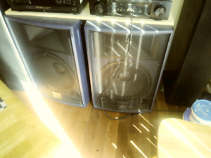 15 inch PA speakers amp and EQ