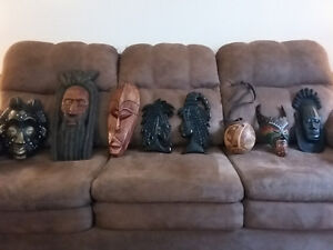 """Wood and Clay """"Tribal"""" Masks($5-$15)"""