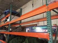 Beams for warehouse shelving