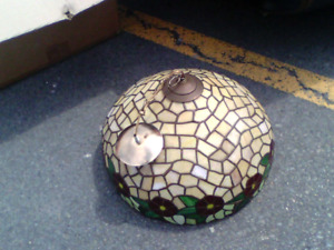 2 Stain glass lamps very old