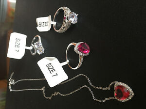 Charmed aroma rings and a necklace.