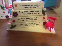 Christmas in heaven table display