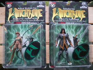 New on Card WITCHBLADE Figures -Medieval Witchblade & Nottingham