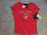 Baby Phat girls lg rose red tee. brand new tags attach.,stunning