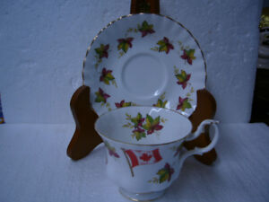 "VINTAGE ""CANADA FROM SEA TO SEA"" CUP 'N SAUCER"