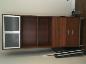 4 Drawer with shelves and cabinet wall unit