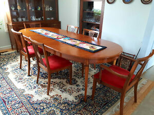 Solid Wood Table, Chairs and Cupboard