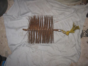 stiff wire chimney cleaning brush  6 x 10 inches