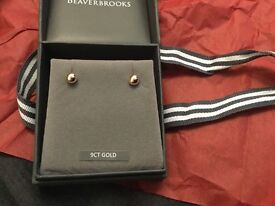 New Beaverbrooks rose gold 9ct studs