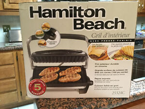 Grill with panini press - Hamilton Beach
