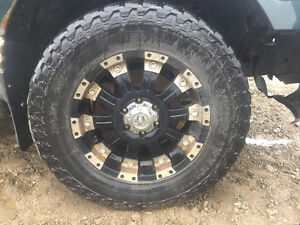 "USED-AFTERMARKET 18"" RIMS & TIRES"