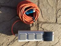 Caravan Campervan camping 10 amp hookup with long cable