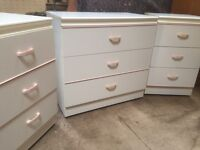 White And Pink Bedroom Set