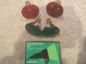 Floodlight Kit with 2 Red Bulbs and 2 Green Bulbs