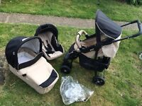 Hauck all in one travel systems or sale. Pram push chair buggy car seat