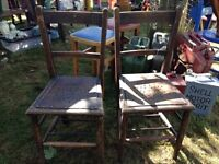 Vintage Sunday school chairs