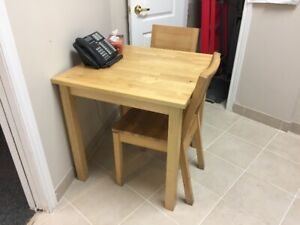 Good Condition Ikea Wooden Dining Table & Chairs Set