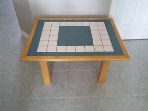 HANDMADE SOLID WOOD CERAMIC TILE TOP COFFEE TABLE London Ontario image 1
