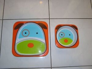PLATE & BOWL (CHILDS) - SKIP HOP ZOO)