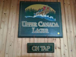Upper Lager Beer Sign
