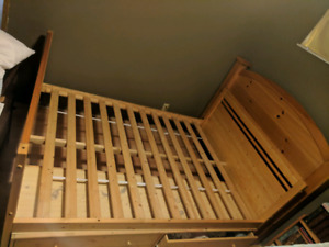 Kids double Bedframe w/ 2 under bed drawer