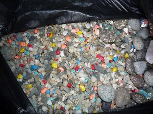 Aquarium Coloured Rocks