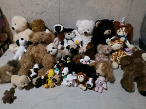 Alot of stuffed animals