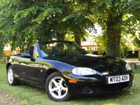 Mazda MX-5 1.8i CONVERTIBLE + 2003 GENUINE VOSA WARRANTED 72,898 MILES FROM NEW