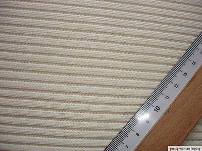 1 Lfm Jersey 2,27€/m²  Feinrippe beige Baumwolle 140cm breit FF11
