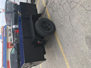 Heavy duty cargo trailer 4x8 with newer truck tires