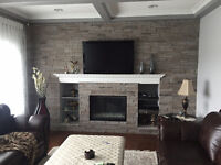 Stone installation, Fire places, and brick installations  Around