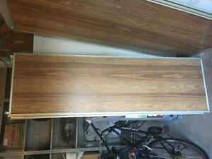 Sliding Closet Doors- Brown 6 pieces 4=24x80 & 2= 38x80 $15 each