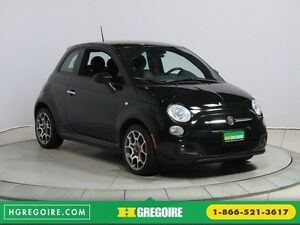 2015 Fiat 500 Sport AUTO CUIR A/C GR ELECT MAGS