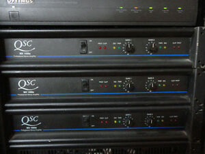 2 qsc mx 1500a 1500w power amps