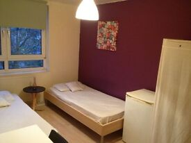 BEAUTIFUL COSY TWIN ROOM HABITACION DOBLE, 8 MNTS WALK BOW ROAD, 15 MNTS TUBE OXFORD ST, MILE END, 1