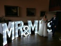 Giant Mr & Mrs Letters £150