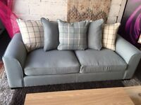 New Croft 3-Seater Fabric Sofa In Duck Egg