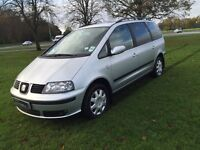 2008 seat alhambra reference DIESEL, 7 SEATER *FINANCE & WARRANTY*not scenic, sharan, smax
