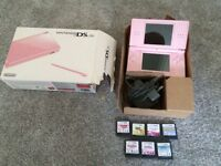 Nintendo DS lite boxed with 7 games and official charger