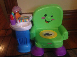 Fisher price singing chair and learning table