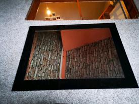 Haldane and Fisher bathroom high gloss black mirror