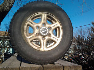 "Pair of 14"" studded snow tires"