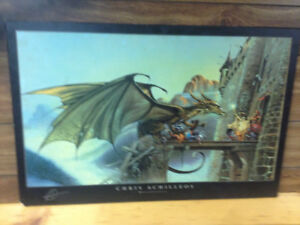 Wooden Chris Achilleos Dragonspell picture 24x36 inches