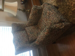 Vintage English manor wing chair from UK