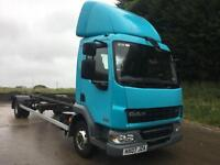 2007 07 DAF lf 45.160 24ft demount chassis cab