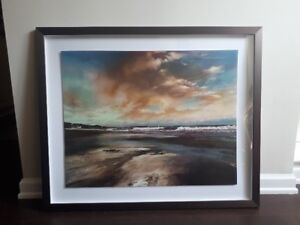 The Sand, the Sea, and the Sky – Framed Painting