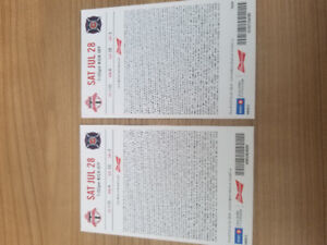 2 TFC Tickets Saturday July 28th 7:00PM vs Chicago Fire