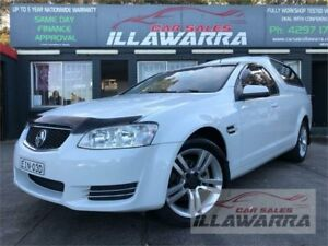2011 Holden Commodore VE II MY12 Omega White 6 Speed Automatic Utility Barrack Heights Shellharbour Area Preview