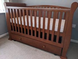 Cotbed Sleigh Bed Toddler Day Bed solid wood
