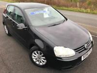 VW GOLF 1.9 TDI MATCH DIESEL £20 WEEK NO DEPOSIT FSH CD A/C 5DR HATCH 2007